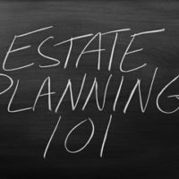 a chalkboard that reads estate planning 101