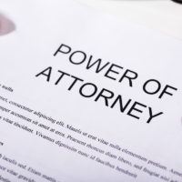 Close-up Of Power Of Attorney Form