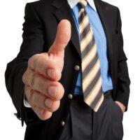 Deal per Handschlag - Geschäftsmann